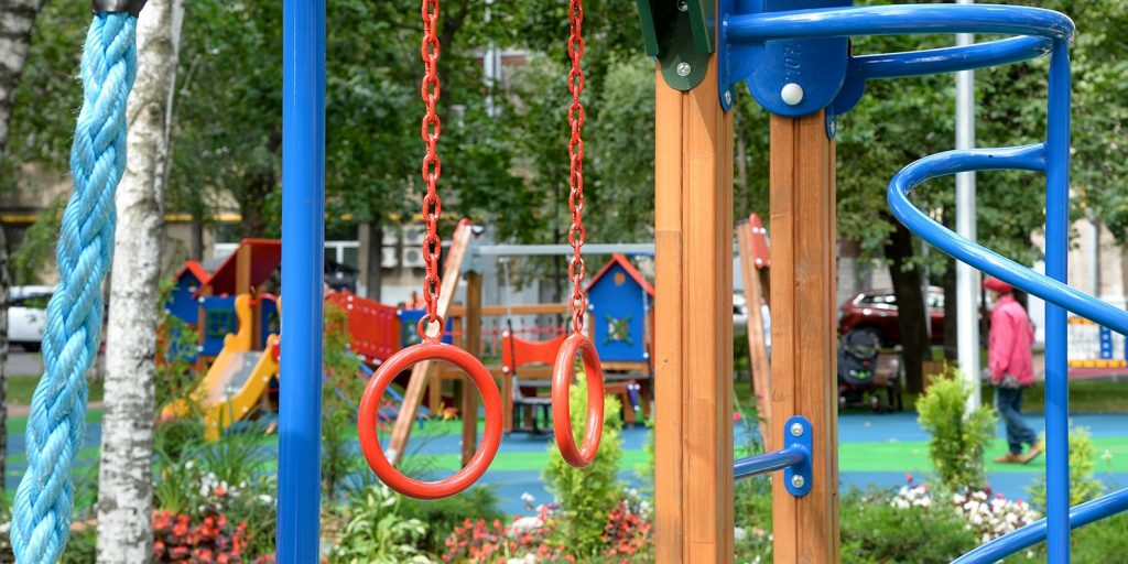 В парке «Северное Тушино» вновь открылись детские и спортивные площадки